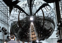 The decor at the Louis Vuitton F/W 2012 Men's show, at the…
