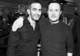 Marc Jacobs and Kim Jones backstage after the Louis Vuitton F/W 2012…