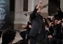 Stefano Pilati after the Yves Saint Laurent F/W Men's show, Paris. Photo…