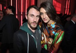 Cedric Rivrain and Natacha Ramsay-Levi at the Pradaand24 hourmuseum party, designed by…