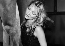 Beautiful Kate Moss at the Pradaand24 hourmuseum party, designed by Francesco Vezzoli,at…