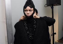 Backstage at Augustin Teboul F/W 2013 presentation at the Mercedes Benz Fashion...