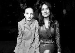 Mathilde Pinault and Selma Hayek at the Gucci F/W 2013 show, Milan….