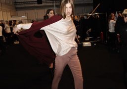 Backstage at Michael Sontag F/W 2013 show at the Mercedes Benz Fashion...