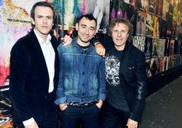 Guillaume Houzé, Nicola Formichetti and Renzo Rossoat theDiesel Rebootlaunch, an immersive tumblr…