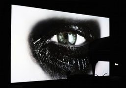 "Douglas Gordon ""Phantom"" video installation at Gagosian Gallery, New York"