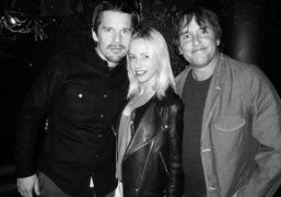 Ethan Hawke, Heidi Bivens and director Richard Linklater at the New York…