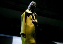 One look from the Thomas Tait F/W 2015 show at Ambika P3 Gallery,...
