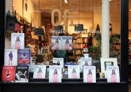 A special vitrine dedicated to Purple's 20th birthday at 0fr. library, Paris….
