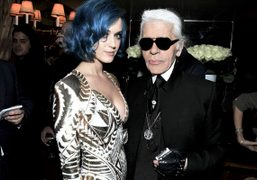 Katy Perry and Karl Lagerfeldat the Hogan Dinner hosted by Karl Lagerfeld…