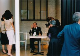 William Eggleston at his book signing in 2010, Tokyo. Photo Chikashi Suzuki