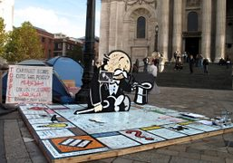 BANKSY'S MONOPOLY AT SAINT PAUL'S CATHEDRAL FOR THE OCCUPY LONDON STOCK EXCHANGE