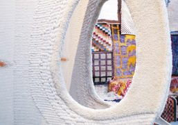 """Decorum"" carpets and tapestries by artists curated by Anne Dressenat Musée d'Art..."