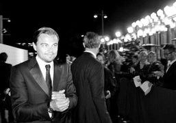 Leonardo DiCaprio at the L.A.C.M.A inaugural Art + Film Gala in honor of Clint Eastwood…