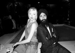 Sophie Sumner and Waris Ahluwalia at the Four Seasons for Carine Roitfeld's…