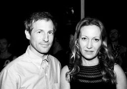 Spike Jonze and Diana Picasso at the Cocktails and Curators event honoring…