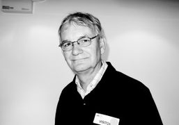 Photographer Martin Parr before his talk with Nicholas Barker at the London…