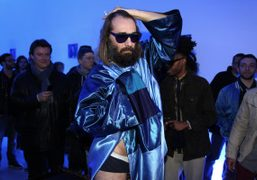 The French neo-pop singer Sebastien Tellier at Galerie Perrotin, for a special…