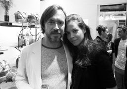 Marc Newson and Charlotte Stockdale at the opening of the new Fendi…