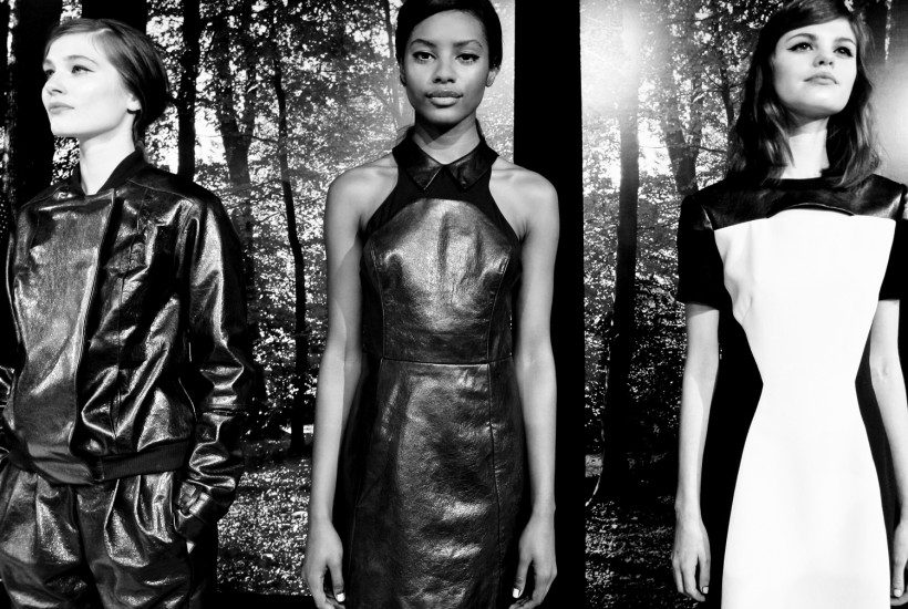 Leather looks at the Charlotte Ronson F/W 2013 presentation, New York.