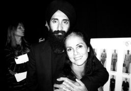 Waris Ahluwalia and Maria Cornejo backstage at her S/S 2014 Show, New York. Photo Sabine Heller