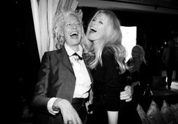 Claudia Schiffer and Ellen Von Unwerth at the Guess30th Anniversary Celebration at…