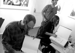 Successfull book signing ofTerry Richardson (Mom and Dad) and Carine Roitfeld (Irreverent)…