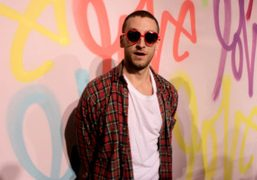 Curtis Kulig at his House of Hearts: Love Mepop-up show which is…