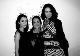 Bibi Cornejo, Maria Cornejo and Shalom Harlow backstage at Zero and Marina…