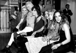 Poppy Delevigne, Arizona Muse, Cara Delevigne, Mary Charteris and Jess Mills at…