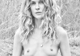 Erin Wasson wearing a necklace from her jewelry collection Low Luv, Austin….