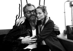 Johan Lindberg and Carolyn Murphy at the BLK DNM boutique on Lafayette street, New York. Photo…