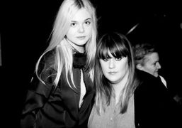 Elle Fanning and Kate Mulleavy at last nights screening of the film…