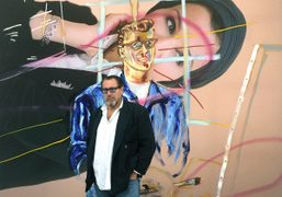 """Julian Schnabel """"Every Angel has a Dark Side"""" exhibition at Dairy Art..."""