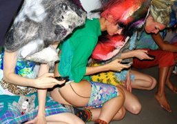 NY-BASED ARTIST K8 HARDY BACKSTAGE OF HER FASHION SHOW At The Whitney...