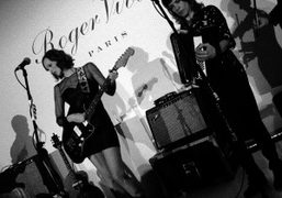 Karen Elson performs at the Roger Vivier & Rizzolinew book launch at…