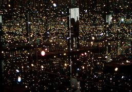 Yayoi Kusama's Fireflies On The Water at the Whitney Museum, New York….