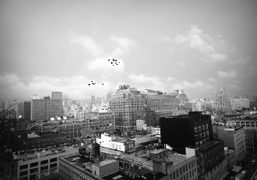 Back in New York City, view from the Standard Hotel.Photo Olivier Zahm