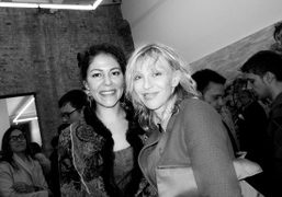 Lola Montes Schnabel and Courtney Love at Lola's Love Before Intimacy opening…