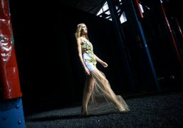 Mary Katrantzou S/S 2015 show at the Old Fire Brigade Rear Workshop,...