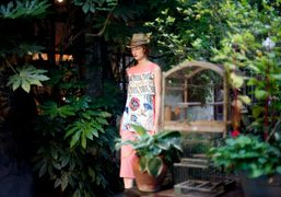 One look from the I'm Isola Marras S/S 2014 collection presentation atCircolo...