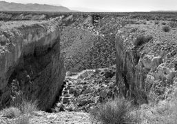 """Michael Heizer """"Double Negative"""" on the Eastern Edge of the Mormon Mesa,..."""
