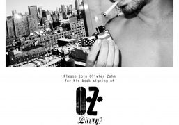 Join us for Olivier Zahm's O.Z. Diary book signing tonight from 5pm...