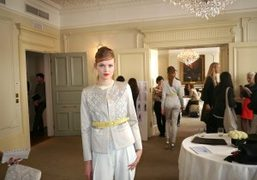 A look from the Pringle of Scotland, S/S 2013 Presentation at the Browns…