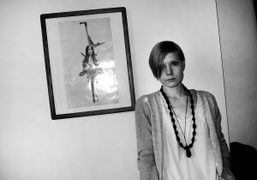 My friend the American musician Lissy Trulliein her apartment in front of…