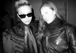 G-Dragon and Caroline Gaimari after the Comme des Garçons Mens F/W 2014…