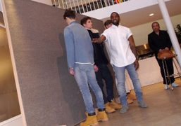 Kanye West at the Men's F/W 2014 presentation of his collaboration with the French brand A.P.C.,…