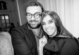 Francesco Russo withCarine Roitfeld at a cocktail to celebrate the opening of…
