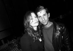 French actress Isabelle Huppert and André Saraiva, Paris. Photo Olivier Zahm