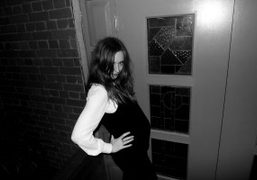 The beautiful and pregnant Valentine Fillol Cordier at the Alice and Olivia dinner at…